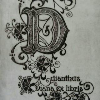 Korelc Diana_DIANTHUS EX LIBRIS_2020_20x