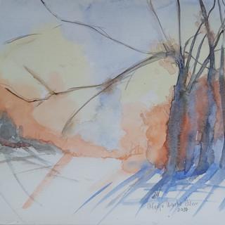 Urankar Murn Marija Zimsko jutro akvarel