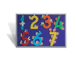 J184A - Pictorial English number cut out 1