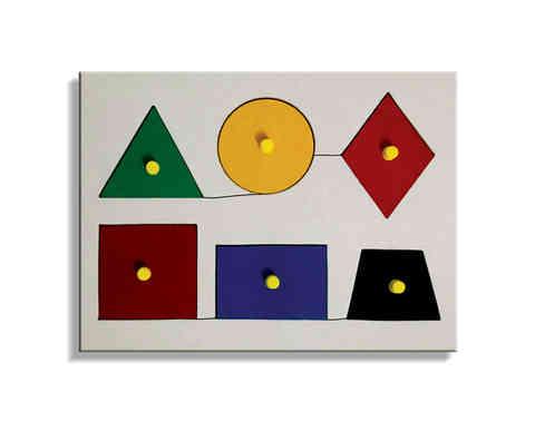J20 - Tray of 6 Geometrical Shapes