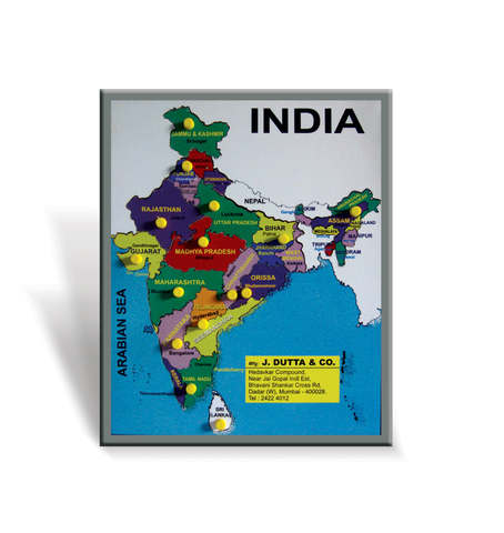 J303B - Map of India Jig Saw Puzzle