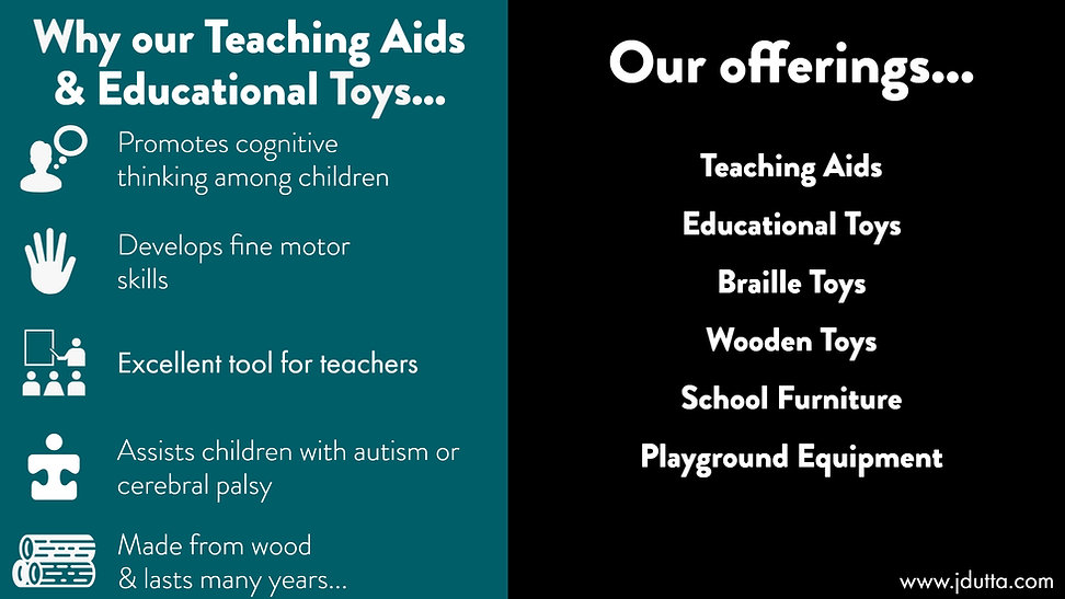 J. Dutta & Co.'s educational toys, teaching aids, wooden toys, puzzles to boost cognitive thinking, fine motor skills, concentration and creativity.