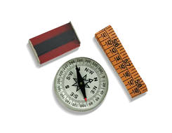 Magnetic Compass, Measuring Tape & Bar Magnet