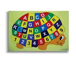 J154 - Tortoise with Alphabet English