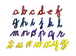 English Cursive Alphabet Cut-Out