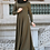 Thumbnail: Khaki Long Sleeved Lace Maxi Dress