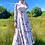 Thumbnail: Cream High Neck Floral Maxi Dress