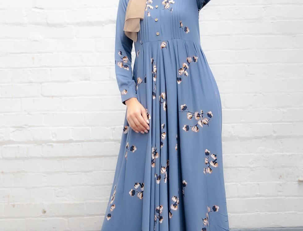 Slate Long Sleeved Maxi Dress