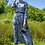 Thumbnail: Grey Tiger Print Silk Maxi Dress with Belt
