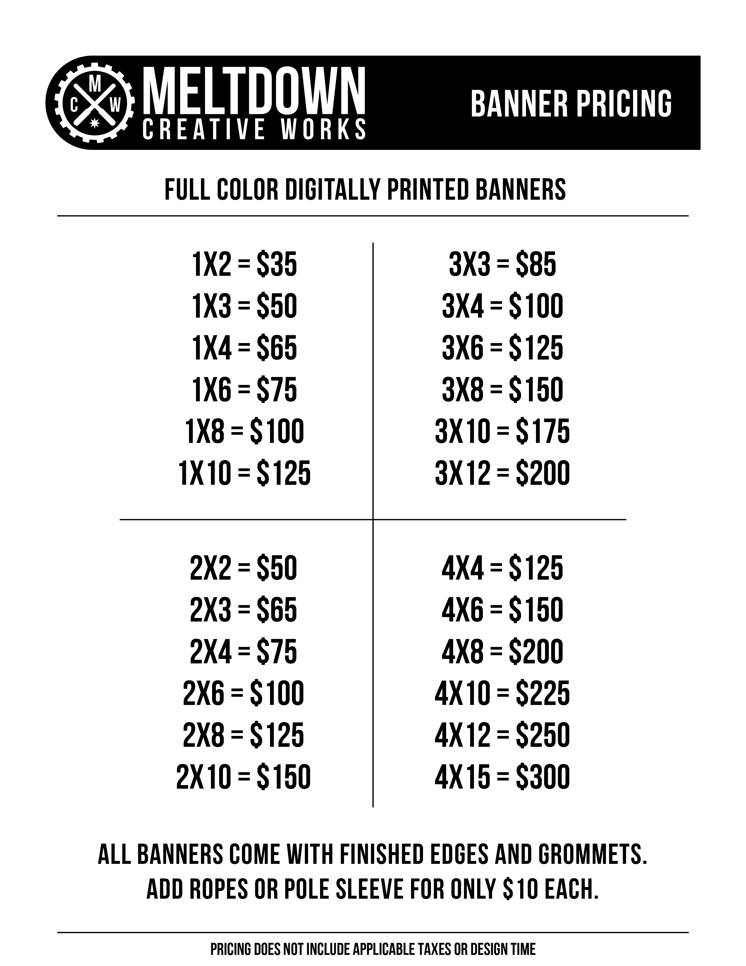 Banner Pricing