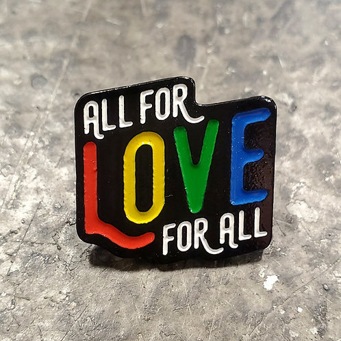 All For Love Lapel Pin