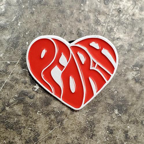 Peoria Heart Lapel Pin