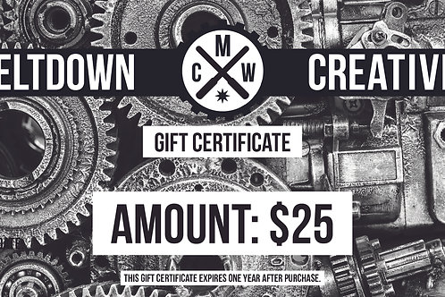 $25 MCW Gift Certificate