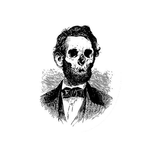 Deadbraham Lincoln Sticker