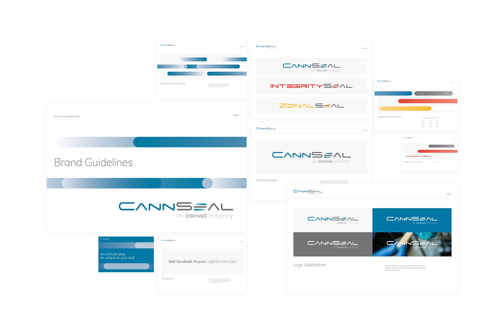 Powerpoint presentation template using CannSeal's refreshed branding that aligns with their parent company, Interwell.