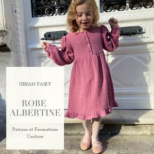 La petite robe Albertine : notre nouveau patron enfant !
