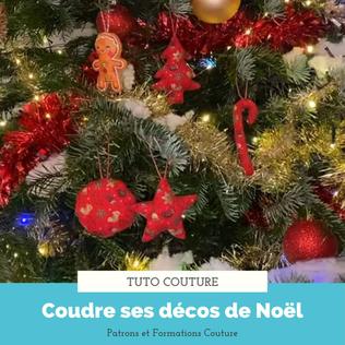 Tuto couture facile : Les décorations de Noël