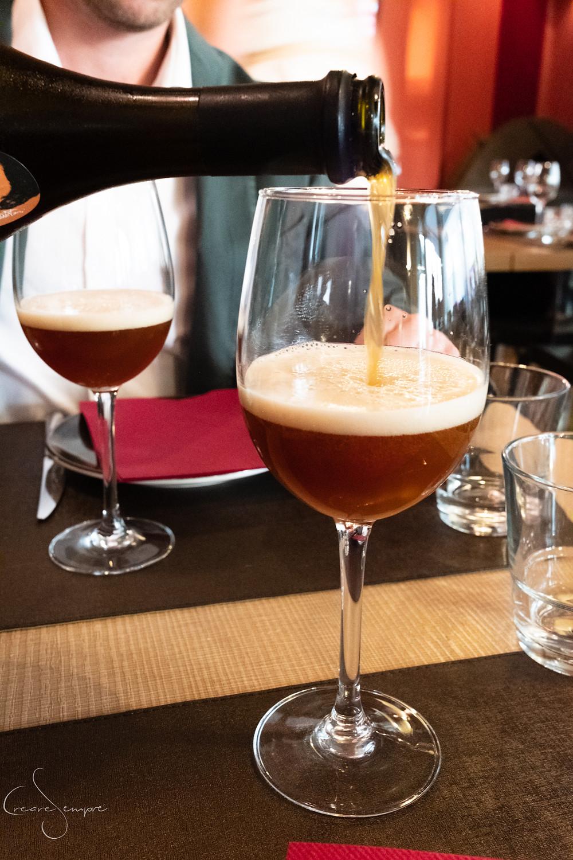 La birra artigianale nel ristorante di Roberto Farnesi, Pisa.