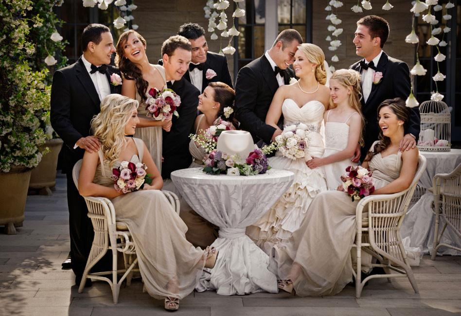 foto con gli ospiti al matrimonio