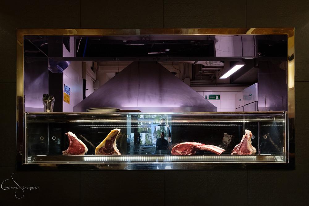La grigliata di carne al Ristoro La Bottega del Parco