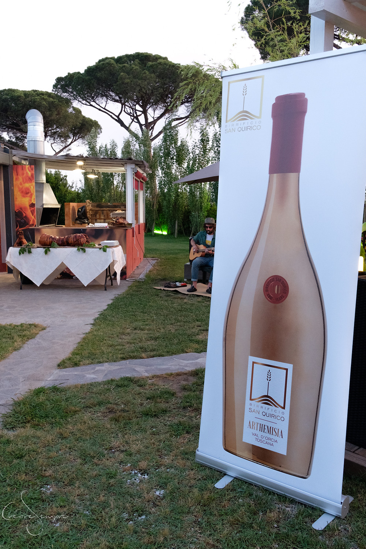 Birra artigianale del birrificio San Quirico al ristorante di Roberto Farnesi, Pisa.