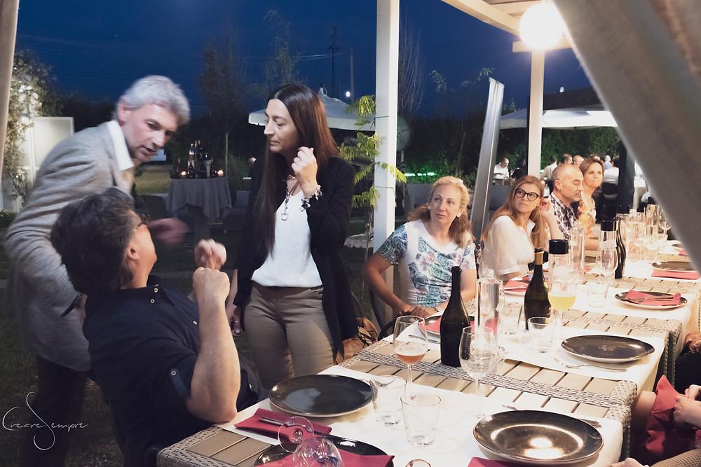 L'evento al Ristoro La Bottega di Parco di Roberto Farnesi.