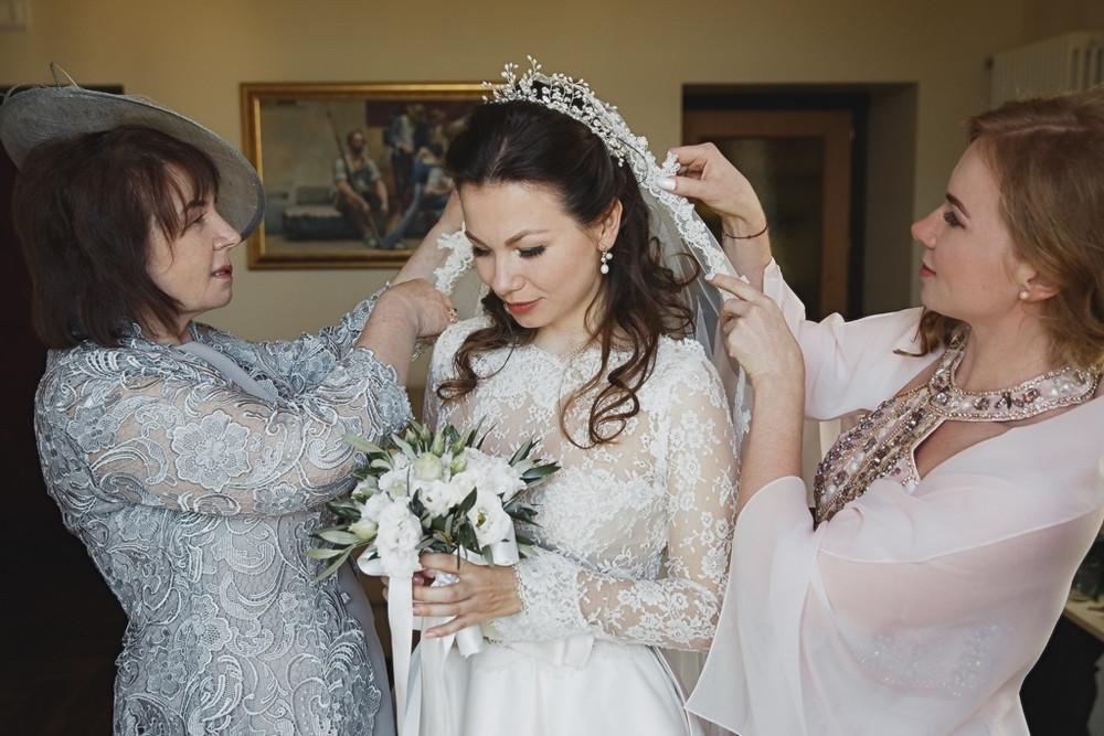 Io, mia mamma e mia sorella prima della cerimonia.