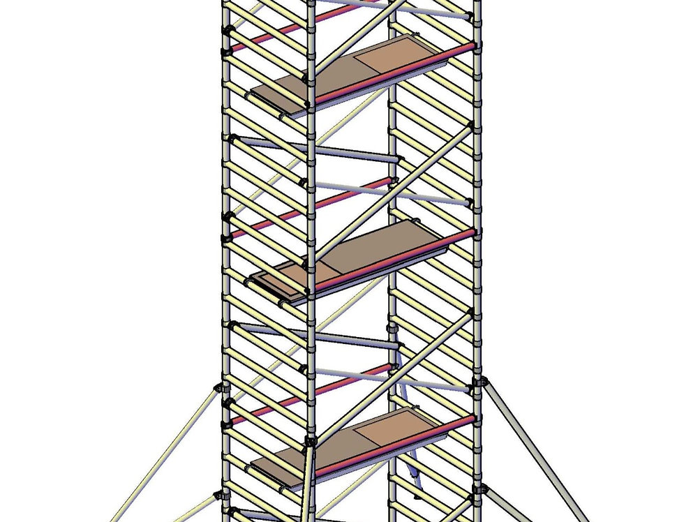 פיגום רחב 135 סמ - גובה 8 מטר דריכה