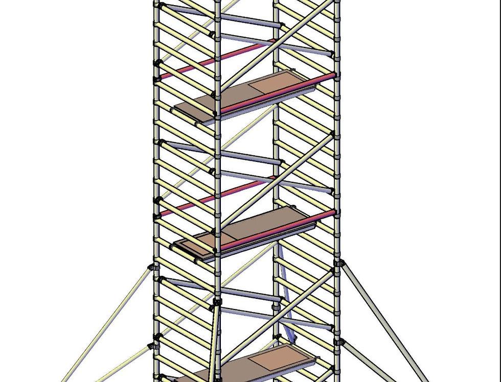 פיגום רחב 135 סמ - גובה 7 מטר דריכה