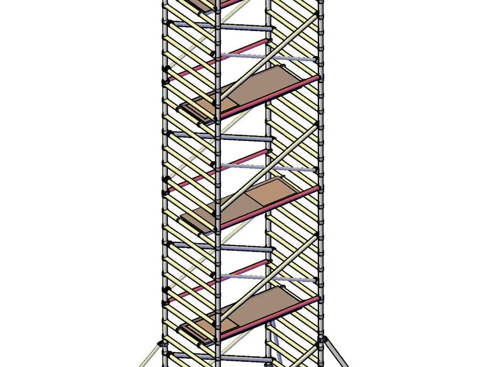 פיגום רחב 135 סמ - גובה 11 מטר דריכה