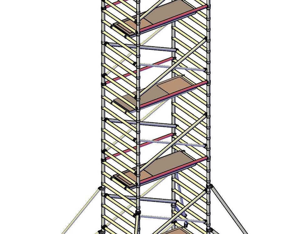 פיגום רחב 135 סמ - גובה 9 מטר דריכה