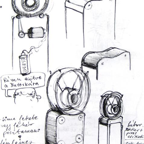 sketchbook \ sketch for Space-time B.K.A.