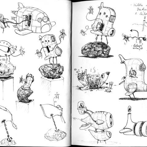 sketchbook \ sketches for Brúsz Villisz
