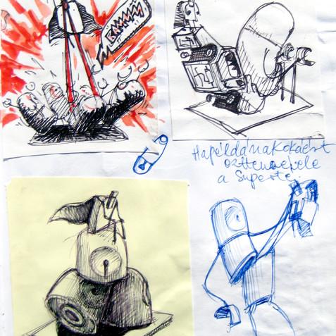 sketchbook \ sketch for the Super Brick
