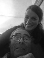 Renate Diks met vader Jan