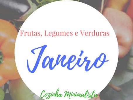 Frutas, verduras e legumes do mês de Janeiro!
