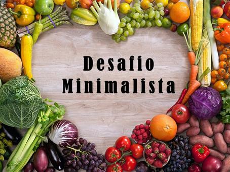 Desafio minimalista na alimentação