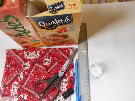 Como fazer um Porta Absorvente usando caixas de suco.