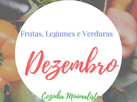 Frutas, verduras e legumes do mês de Dezembro!