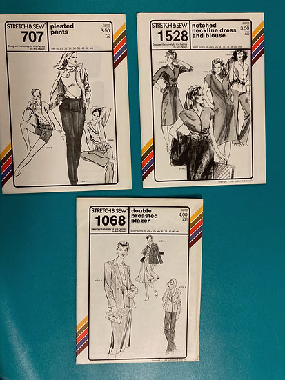 Stretch & Sew Patterns - Group 12:  707, 1528, 1068 from 70's & 80's