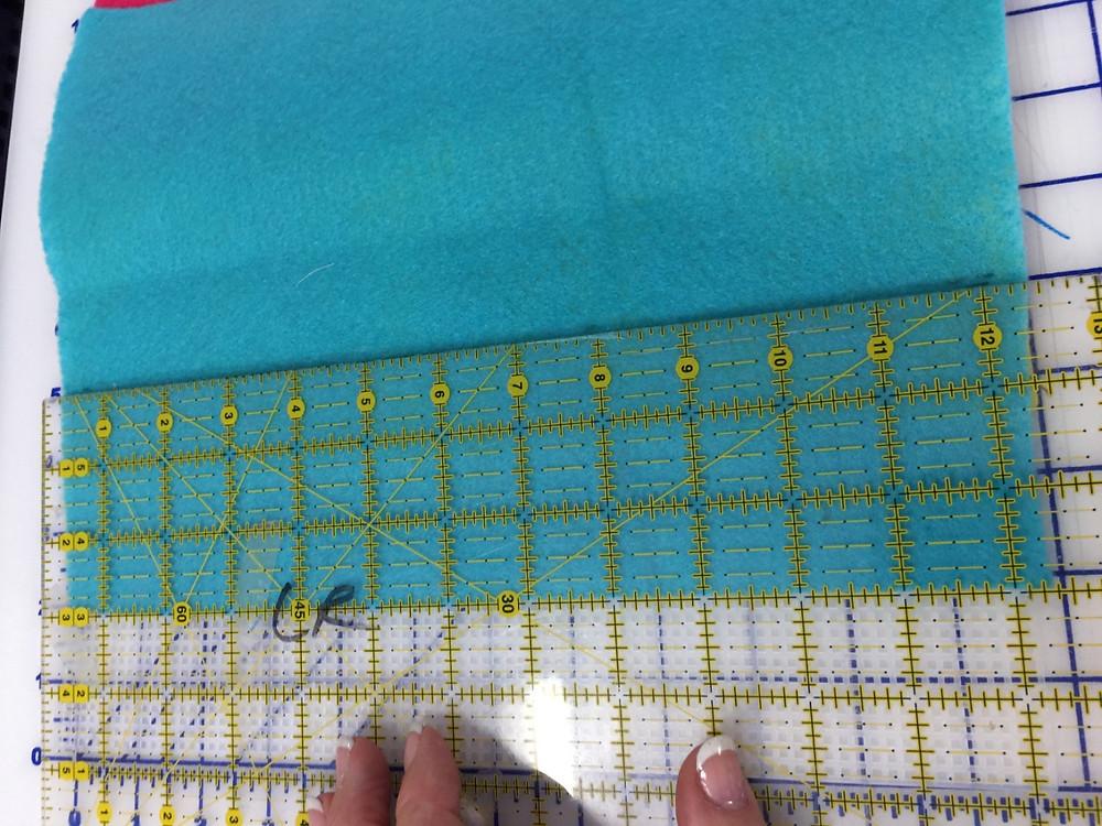 Positioning and stitching Felt C.
