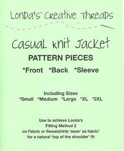 Casual Knit Jacket Pattern - Printed
