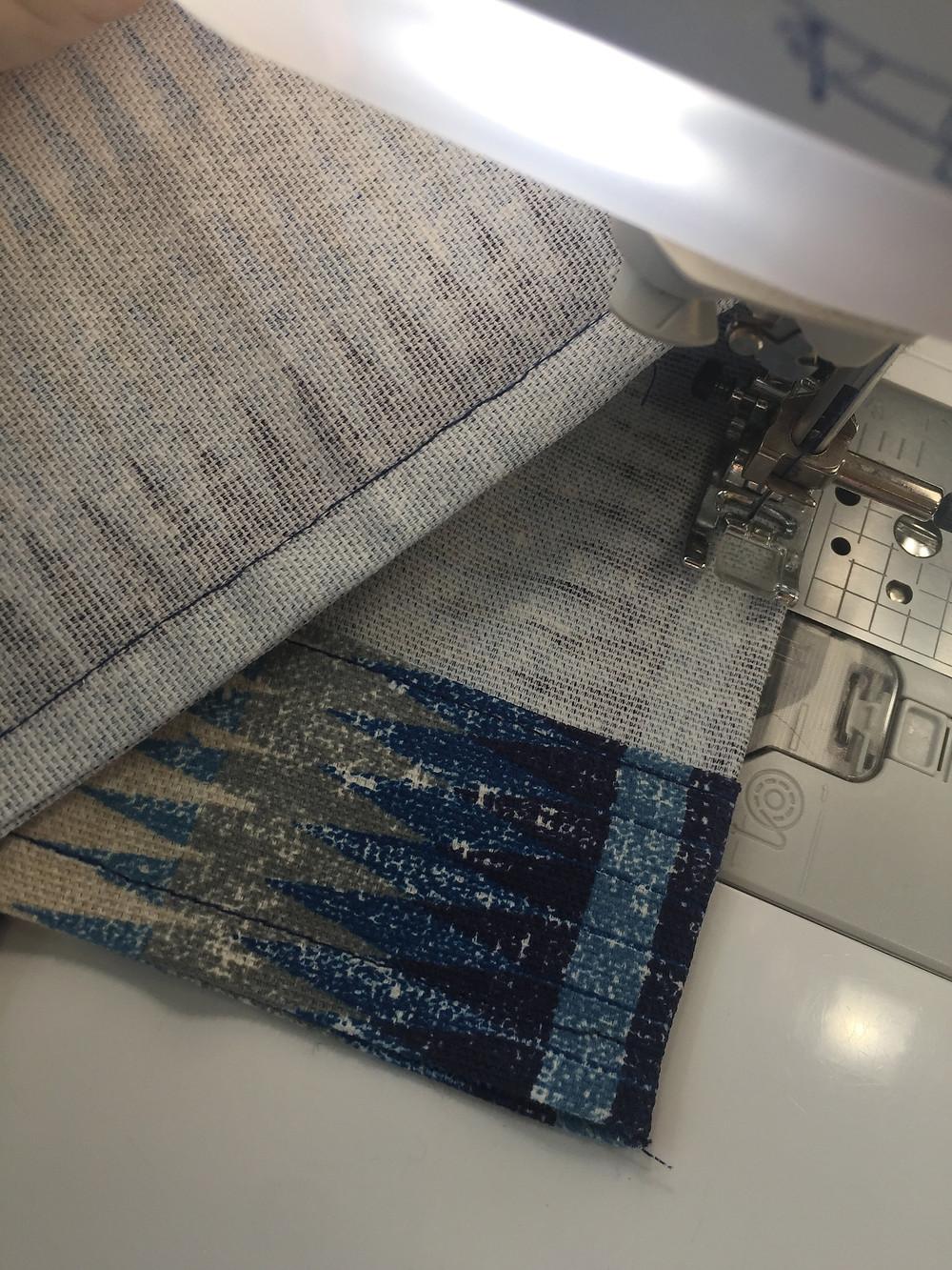 French seam final stitching.