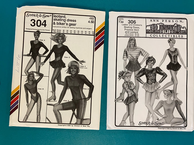 Stretch & Sew Group 46:  304, 306  from 80's & 90's