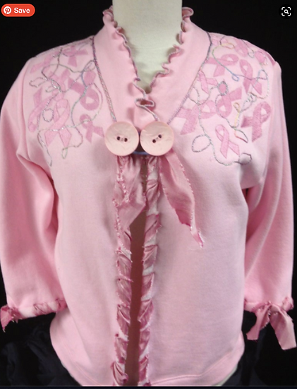Sweatshirt Jacket Breast Cancer Awareness Pink Ladies Jacket (14)
