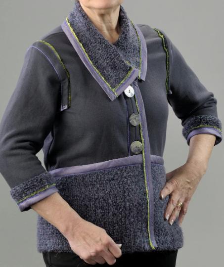 Mohair Sweater Knit Sweatshirt Jacket