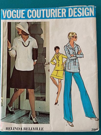Vogue Couturier Design 2842 Belinda Bellville Uncut Size 16