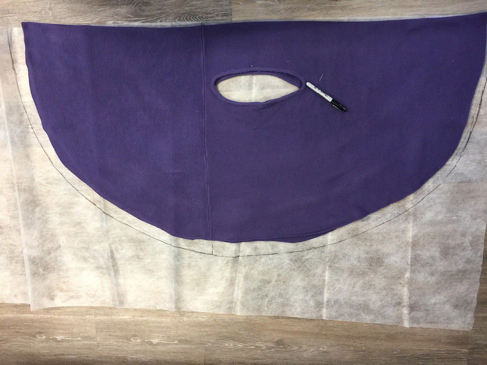 original cape laid out for pattern