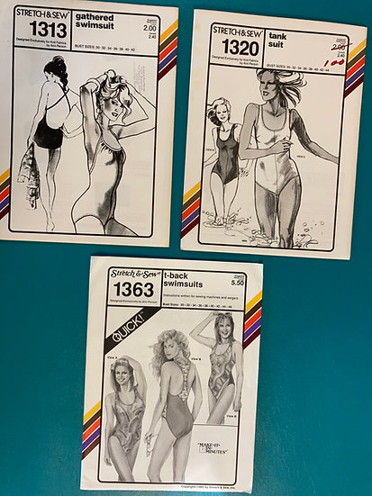 Stretch & Sew Group 48:  1313, 1320, 1363 from 70's & 90's