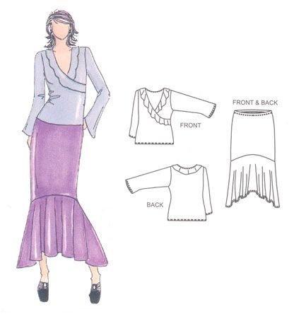 Ruffle Top & Swirl Skirt-Londa's 2 Cents Worth